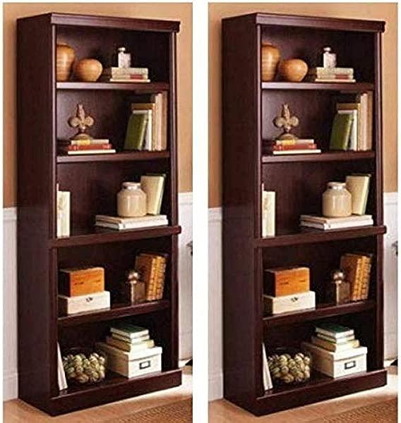 Better Homes And Gardens Ashwood Road 5 Shelf Bookcase Cherry Set Of 2 Furniture Polish