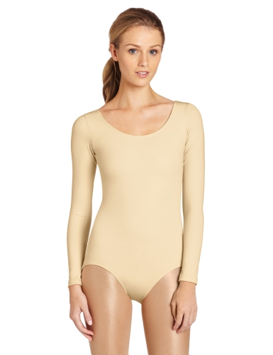 Capezio Women's Long Sleeve Leotard,Nude,X-Large