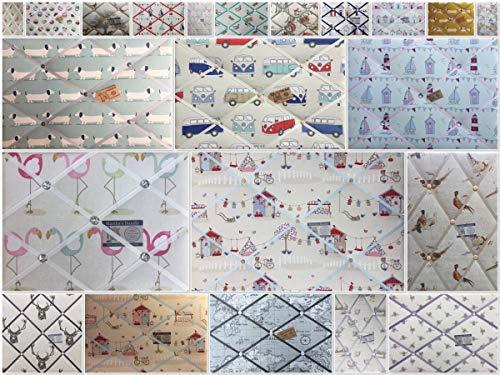 Custom Handmade Bespoke Pin/memo/Notice/Photo Cork memo board Fryetts Fabrics Sml LG XL