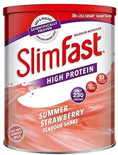 SlimFast Frullato sostitutivo del pasto ad alto contenuto proteico Summer Strawberry 365g - Approfitta della magia Slim Fast per perdere peso, sentirti eccitato e avere il controllo della tua vita