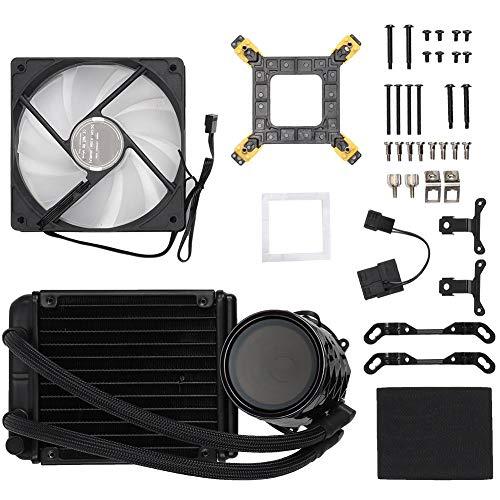 ASHATA-Lüfter,Jonsbo TW2-120 Wasser-CPU-Kühler Kühler RGB-LED-Lüfter für Intel AMD 3D-Drucker Lüfter Ausgestattet mit einem kleinen 4-poligen PWM-Lüfter zur Drehzahlregelung