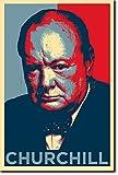 Winston Churchill Kunstdruck (Obama Hope Parodie) Hochglanz