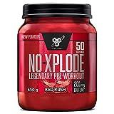 BSN N.O.-Xplode Pre-workout Powder, Suplemento Deportivo con Cafeína, Aminoácidos, Vitamina C y Zinc, Red Rush, 50 Porciones, 650 g, Embalaje Puede Variar