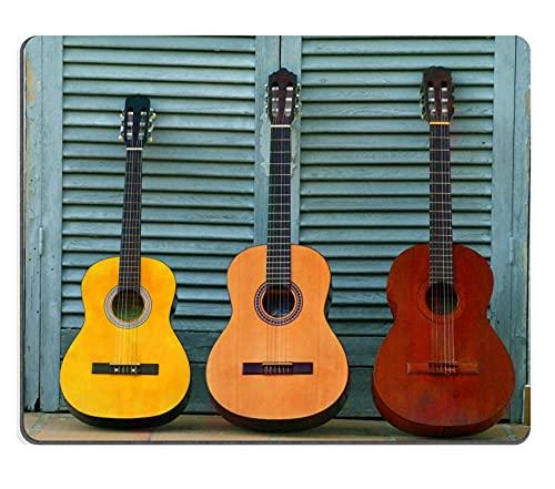 Mousepad DREI Sätze Konzertgitarren blauen Tür Bild 23293063