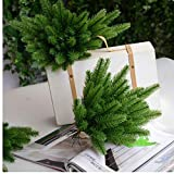 Zonster Ramas de Pino Artificial 10pieces Plantas Artificiales, Flores Artificiales para el árbol de Navidad Adornos Adornos de 27 cm,
