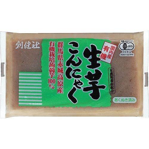 創健社 有機 生芋こんにゃく 250g ×6セット