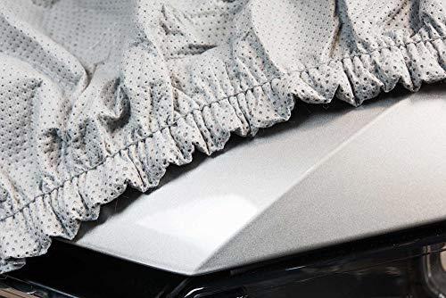 SOFTGARAGE 3-lagig lichtgrau Indoor Outdoor atmungsaktiv wasserabweisend Car Cover Vollgarage Ganzgarage Autoplane Autoabdeckung 104010-0708349