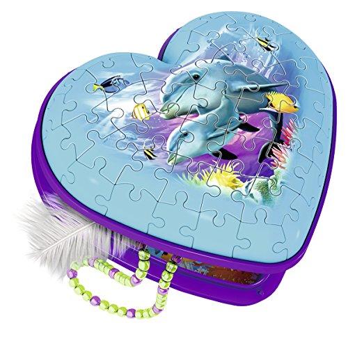 Ravensburger 12118 3D-puzzel hartvorm onderwater meisjes