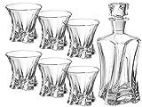 Bohemia Juego de whisky Cooper, vasos de whisky y 6 vasos (0,65 L)