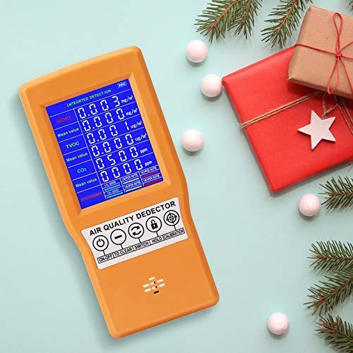 SEAAN Luftqualität Messgerät Innen, Hochpräziser Multifunktions-LCD-Luftqualität, co2 Messgerät für CO2 TVOC AQI Temp und Wecker