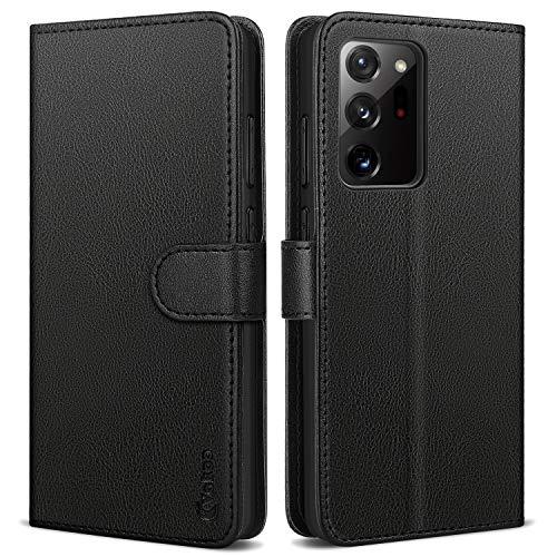 Vakoo Wallet Serie Handyhülle für Samsung Galaxy Note 20 Ultra Hülle, mit RFID Schutz - Schwarz