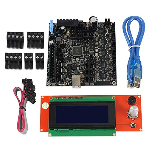 Liseng 3D Printer RAMBo 1.4 Motherboard Integrated Board +2004LCD Screen Main Control Board Kit for Lulzbot Taz6