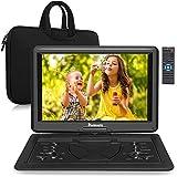 Naviskauto 17,5'' Lecteur DVD Portable Voiture avec Sacoche de Transport Grand Ecran 16 Pouce pour Enfant Supporte HDMI Input,Vidéo Full HD, AV in/Out,Dernière mémoire,Region Libre,USB SD MMC