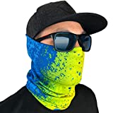 GOT Sports Fishing Mask Camo Headwear - Works as Sun Mask, Neck Gaiter, Bandana, Balaclava (Mahi Mahi)