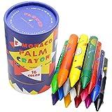 Pastelli a Cera Lavabili Multicolore, Confezione da 16, Atossici e Sicuri Cera per Tutti i Bambini, Flower Monaco