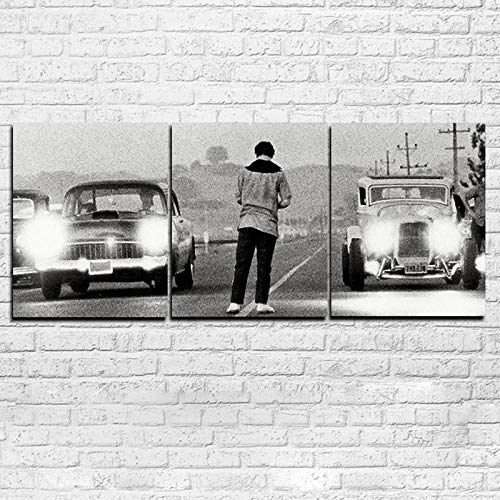 aoyukf 3 Paneles De Pared Arte Moderno HD Impreso Pintura Lienzo Decoración del Hogar Película Érase Una Vez En América Cartel Coche Fotos-Sin Marco-30Cmx50Cmx3