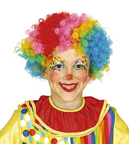 Guirca–Perücke Clown für Kinder, Multicolor (4621)