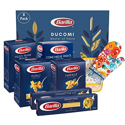 Ducomi Pacchetto 8 Articoli: Fusilli, Farfalle, Conchiglie, Mezze Penne, Bavettine, Spaghettini, Guanto, Presina da Forno - Variety Pack Pasta 6 x 500 g - 3 Kg (Multipack 1)