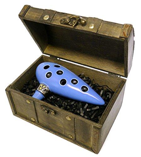 Songbird - Ocarina de Zelda, 7 agujeros - Cerámica - Do Mayor (Tenor) + cofre de almacenamiento y libro con canciones (idioma español no garantizado)