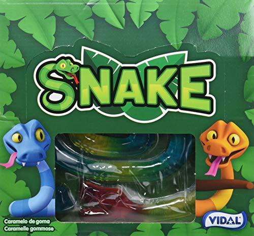 Vidal Golosinas. Snake Jelly. Golosina con forma de serpiente y 1 metro de longitud. Sabor fresa. Formato de 11 Unidades
