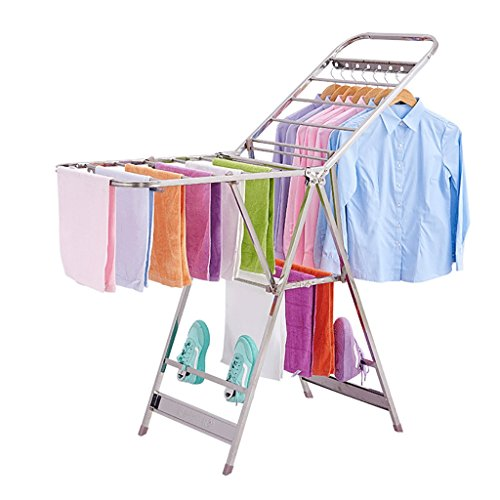 Perchero plegable, percheros de balcón en el suelo, perchas interiores y exteriores, percheros de ropa para bebés