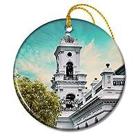 無原罪懐胎のエクアドルクエンカ大聖堂クリスマスオーナメントセラミックシート旅行お土産ギフト