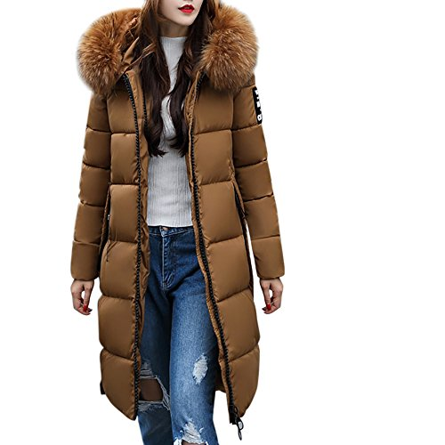 Bekleidung Loveso Damen Mantel Daunenjacke Übergangsjacke Winterjacke Boy Hour Chaos Herbst Winter Mode Frauen Daunenmantel Wintermantel Winterparka (Koffee, XL)