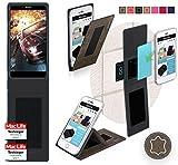 reboon Hülle für Bluboo Dual Tasche Cover Case Bumper | Braun Wildleder | Testsieger