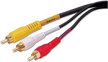 Vanco DKE3X Triple RCA Composite Audio/Video Cables (6 Feet)