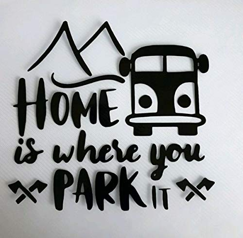 myrockshirt Home is Where You Park it Berge Camping ca 20 cm Aufkleber,Sticker,Decal,Autoaufkleber,UV&Waschanlagenfest,Profi-Qualität