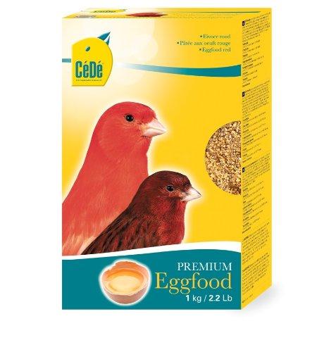 CEDE Kanarien Eifutter rot 1kg Schmackhaftes Vogelfutter für Kanarienvögel