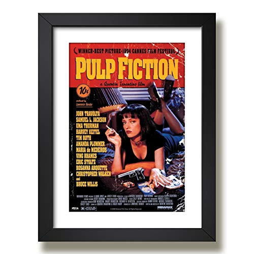 Quadro Pulp Fiction Tarantino Filme Cine Tv Decorativo Sala Paspatur Pronto para Pendurar