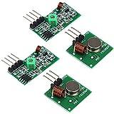 Partstower Módulo Receptor transmisor de Radio inalámbrico - Kit de emisor y Receptor 433 MHz para Arduino Raspberry Pi