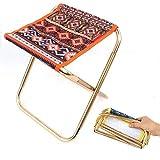 ch-AIR Outdoor Klappstuhl, Klappstuhl Aluminiumlegierung Erwachsene Mini Tragbare Grill Angeln Stuhl Zug Bank Kleine Maza (Color : Orange)
