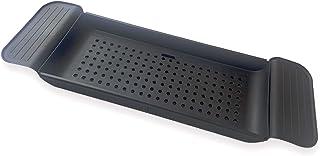 Bath Tub Table Caddy Black, Multifunctional Plastic Bathtub Trays Expandable, Non-Slip Grip Suitable for Bath Tub and Kitc...