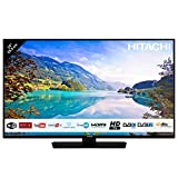 Hitachi Téléviseur LED 24' 59,9cm HD avec Alexa/Smart TV: Netflix, Youtube, Prime / 2 HDMI/FRANSAT/USB/WiFi