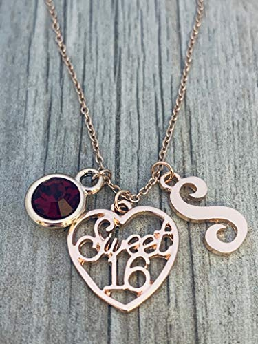 Gold rose necklaces