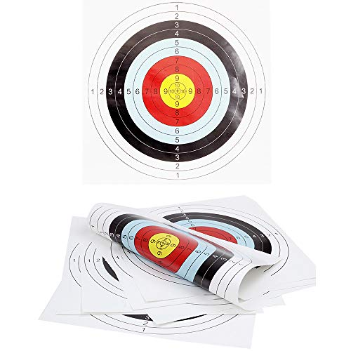 M.Q.L. Archery Paper Target Face, Arrow Targets, Shooting Accessories for Outdoor Shooting Practice - 40 * 40 * 0.1cm