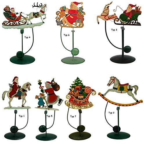 NETPROSHOP Kerstmis wip nostalgie decoratieve figuren uit metaal selectie Typ 4