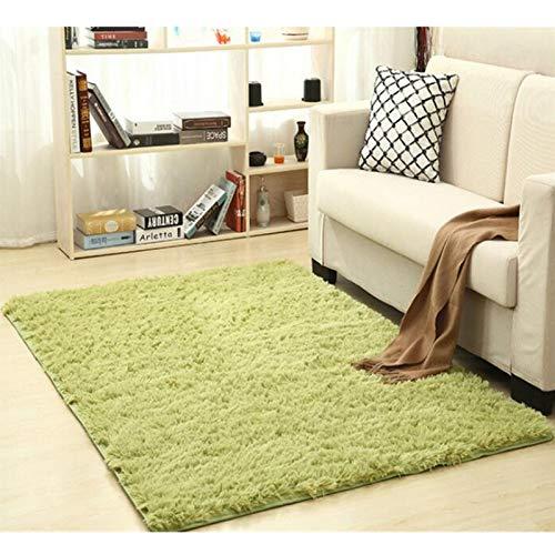 Alfombra Shaggy Calentar Felpa alfombras Alfombras for los niños de la Sala Mullido Inicio Faux Área Manta de la Piel Sedosa Mats Alfombras (Color : Army Green, Size : 50x120cm)