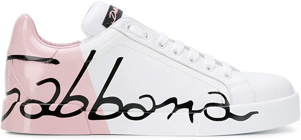 Dolce & gabbana, sneakers per donna bianco/rosa it,in vera pelle Marke Größe