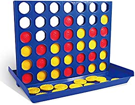 4 in A Row - Family Desktop Game 2 Player Party Board Game for Kids and Adults