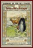 PostersAndCo TM Bretagne Poster / Kunstdruck 60 x 80 cm *