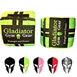 GLADIATOR GYM GEAR Weightlifting Knee Wraps – Compression Elastic...