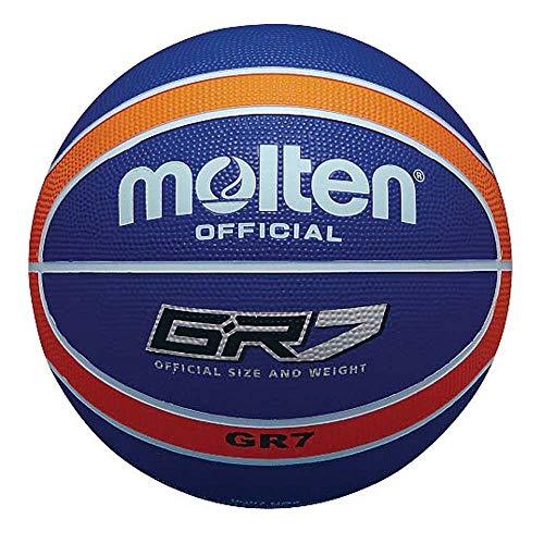 MOLTEN - Balón de Baloncesto (Talla 5), Color Azul y Naranja
