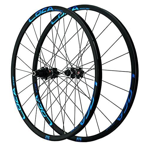 LICHUXIN Juego Ruedas Bicicleta de Montaña 26/27.5/29 Pulgadas Llanta Bicicleta De Aluminio 12 Velocidad Freno Llanta Cubo Rodamiento Sellado Eje Pasante (Color : Blue, Size : 29in)