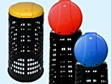 Trespoli bidoni Tata con coperchio raccolta differenziata con coperchio giallo, blu, rosso...
