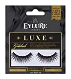 Eylure Faux Mink Eye Lashes, Reusable, Adhesive Included, Gilded, 1 Pair