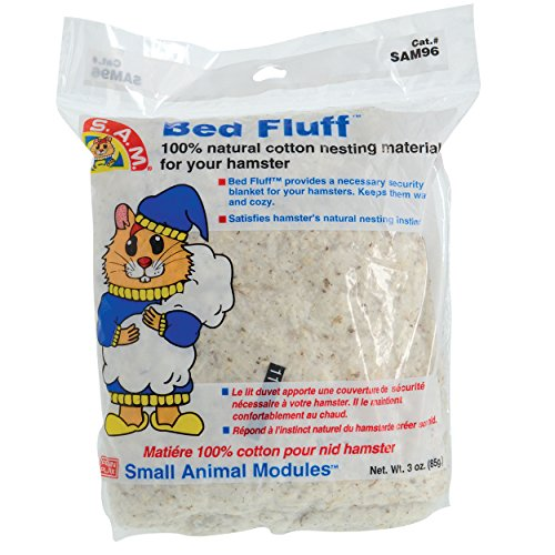 Penn-Plax Bed Fluff for Small Animals, 3-Ounce