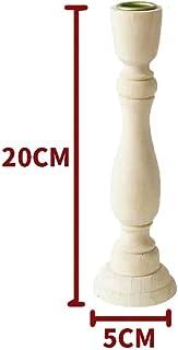 MZY1188 Candelabros de Pilar de Madera, Retro sin Pintar de Madera clásica Artesanal Artesanal candelabros candelabros Decoraciones de Boda